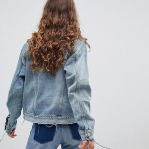 Oversize Boxy Jean Jacket 100% cotton